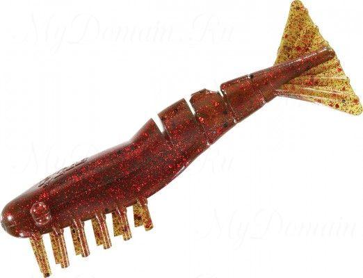 Креветки MISTER TWISTER Exude Shrimp 7 см. уп. 15 шт. 14RBK (съедобная, мангровый с красными блестками) NEW