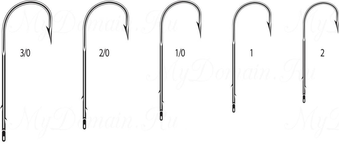 """Крючок Cannelle 1327 N № 1 уп. 100 шт. (никель,кованный,поддев """"абердин"""",две бородки на длинном цевье)"""