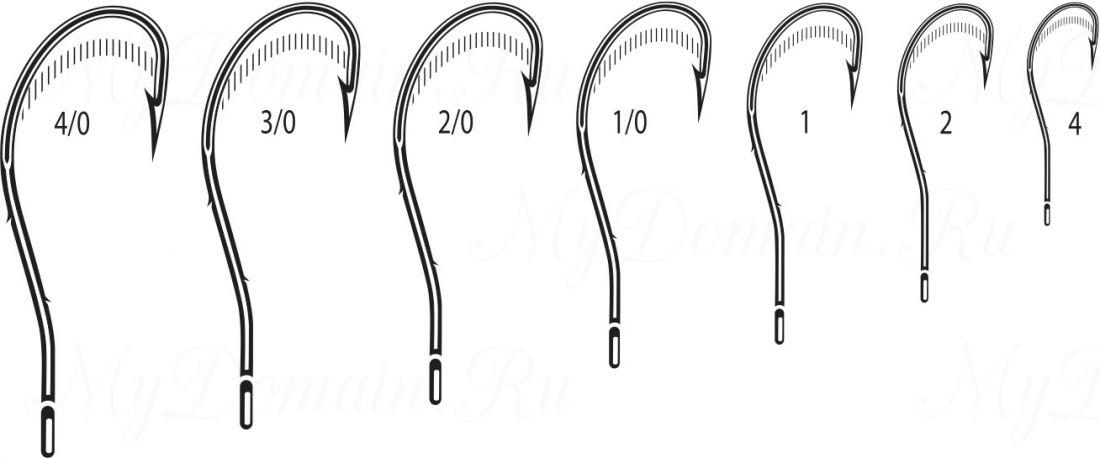 Крючок Cannelle 5104 K № 4/0 уп. 100 шт. (черный никель, кованный, две бородки на цевье, отогнутое жало, ванадиум)