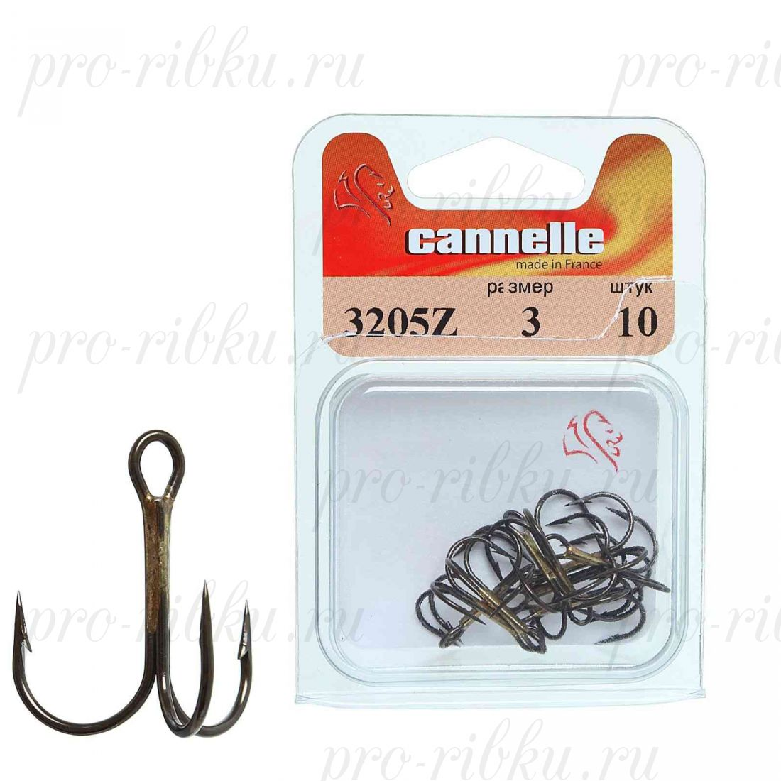 Тройник Cannelle 3205 Z № 6 уп. 100 шт. (бронза,круглый поддев,стандартный тройник,средняя проволка)