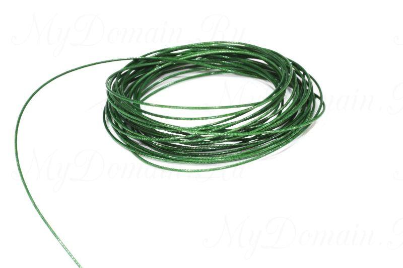 Поводочный материал Climax Toothy Critter (зеленый) 0,38мм 9,1 кг (стальной с полимерн.покрытием,вяжется и спаивается)