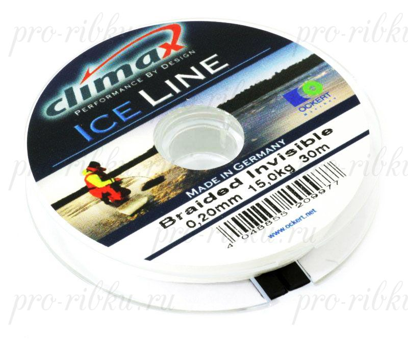 Плетеная леска Climax Ice Invisible 0.15 мм 30 м 8,9 кг (невидимая)