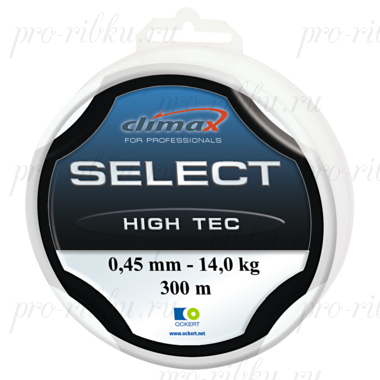 Леска Climax Select High Tec (голубая) 100 м 0,37 мм 10 кг (особо прочная на узлах)