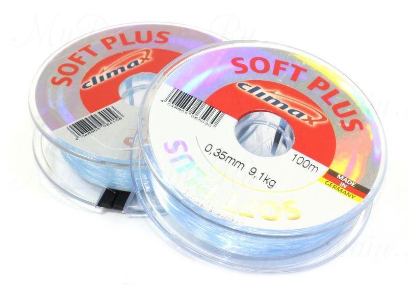 Леска Climax Soft Plus (голубая) 100 м 0,18 мм 2,8 кг уп. 10 шт.
