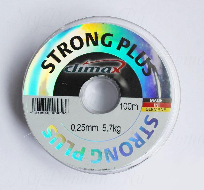Леска Climax Strong Plus (прозрачная) 100 м 0,16 мм 2,6 кг уп. 10 шт.
