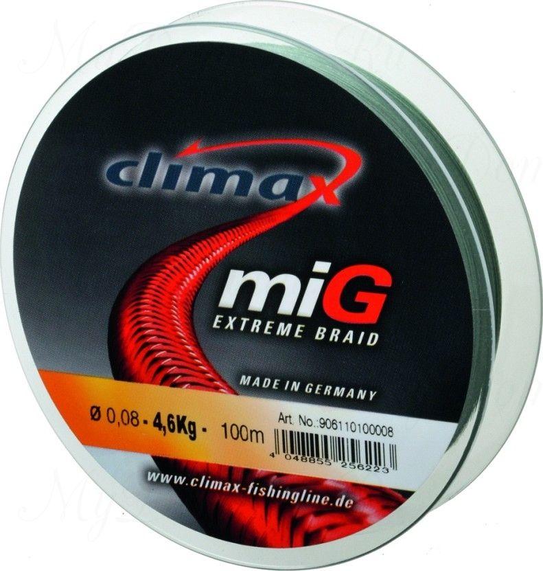 Плетёный шнур Climax Mig Extreme Braid 135m 0,08мм 6.1кг (темно-зеленый)
