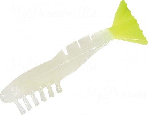 Креветки MISTER TWISTER Exude Shrimp 7 см. уп. 5 шт. LSST (съедобная, люминесцентный с лимонным хвостом) фирменная упак. NEW