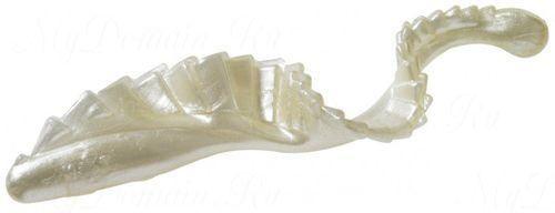 Твистер с гребешком MISTER TWISTER G-Grub 10 см уп. 8 шт. 1P (белый жемчуг) фирменная упаковка