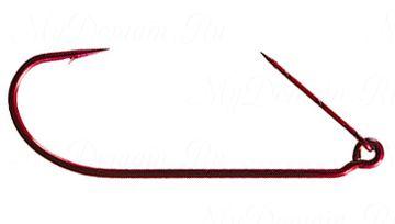 Офсетный крючок MISTER TWISTER незацепляйка Keeper worm hook Red № 3/0 уп. 10 шт. (красный)