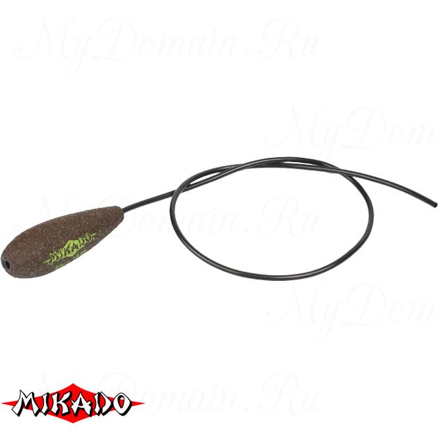 Грузило карповое Mikado с антизакручивателем. отцентрованное (тёмно-зелёный) 18G  80 г.  уп.=10 шт., упак