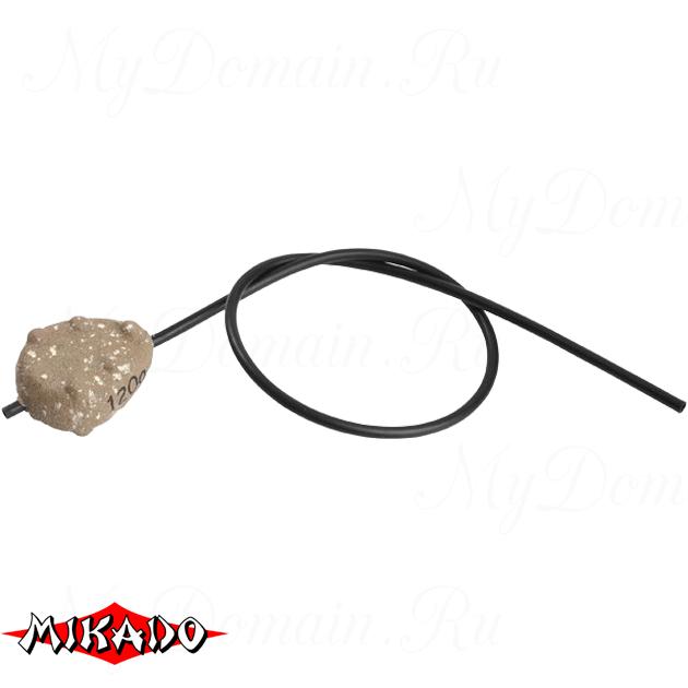 Грузило карповое Mikado скользящее с антизакр. (песочный) 07S  80 г.  уп.=10 шт., упак
