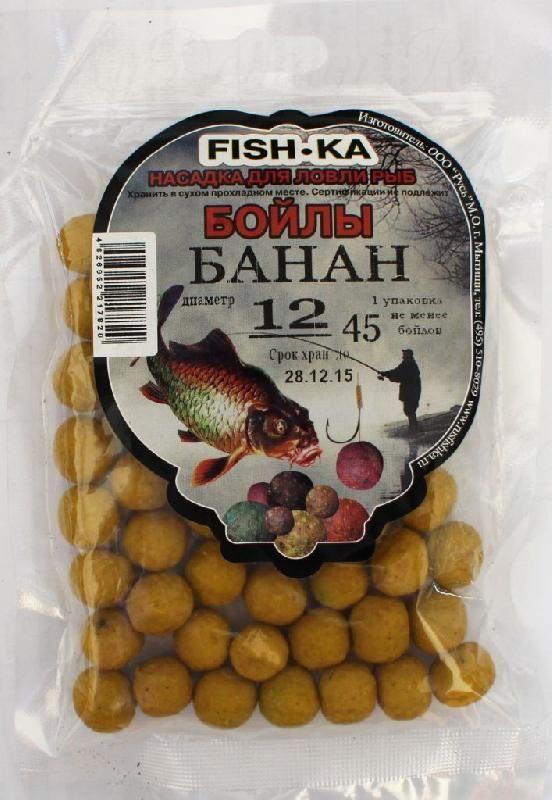 Бойлы FISH.KA (банан) диаметр 12 мм