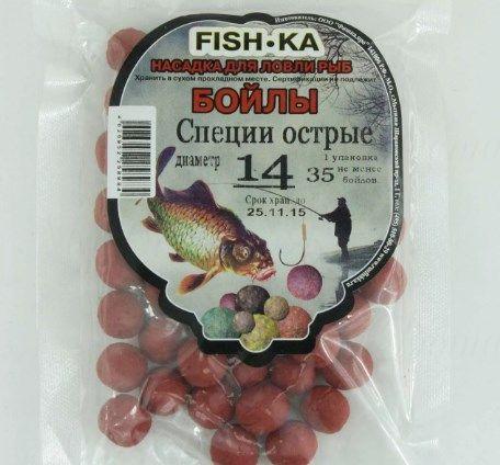Бойлы FISH.KA (специи острые) диаметр 12 мм