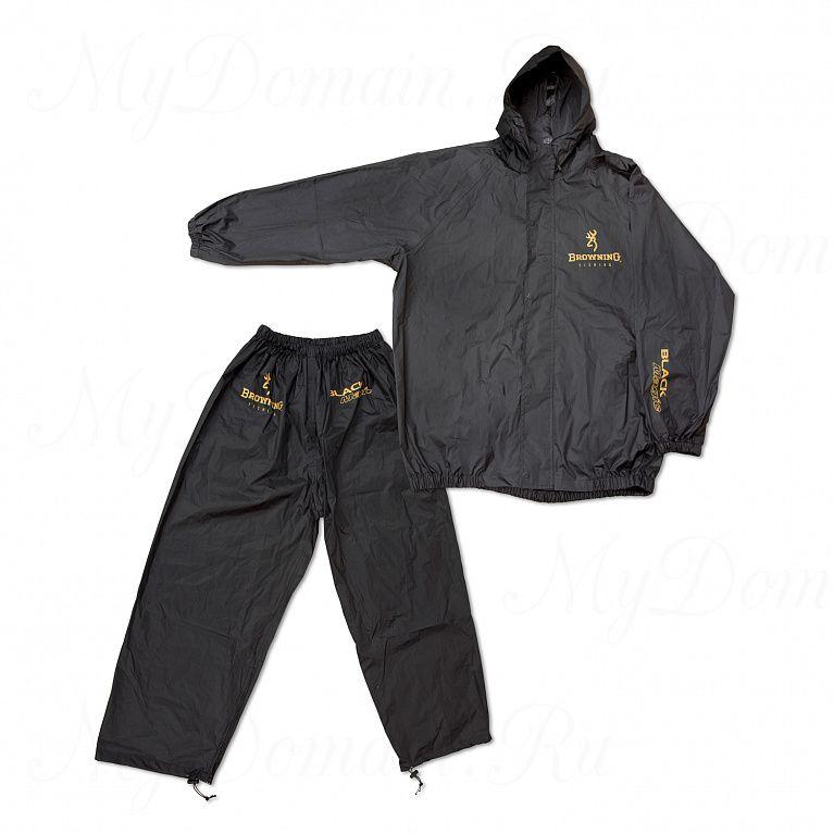 Дождевик (куртка + штаны) Browning Black Magic чёрный размер XL